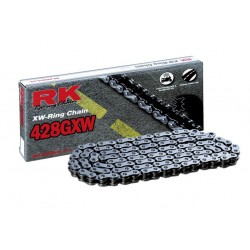 Cadena RK 428GXW con 64 eslabones negro