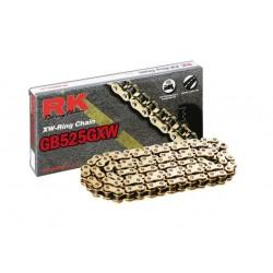 Cadena RK GB525GXW con 72 eslabones oro