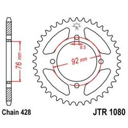Corona JT 1080 de acero con 39 dientes