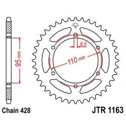 Corona JT 1163 de acero con 45 dientes