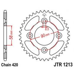 Corona JT 1213 de acero con 37 dientes