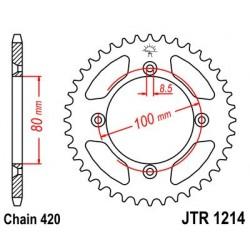 Corona JT 1214 de acero con 46 dientes