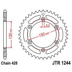 Corona JT 1244 de acero con 54 dientes