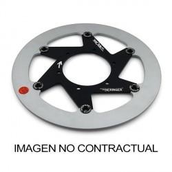 Disco de freno Aeronal® Derecho con pista de Fundición. Acabado PULIDO. (Y10LDPOF)