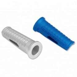 Juego apoyos estribera aluminio. Azul