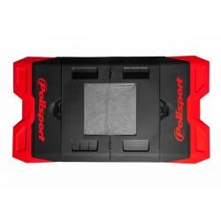 Alfombra plastica de box Polisport rojo 8982200004