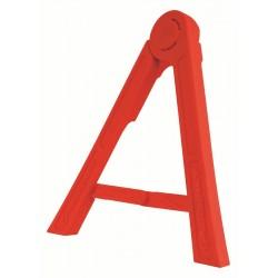 Triangulo lateral de plástico Polisport rojo 8981700004