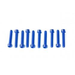 Kit tornillos allen cabeza cilíndrica Pro-Bolt M5 x 30mm (10 pack) Aluminio azul LPB530-10B