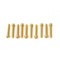 Kit tornillos allen cabeza cilíndrica Pro-Bolt M5 x 30mm (10 pack) Aluminio oro LPB530-10G