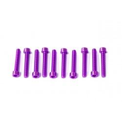 Kit tornillos allen cabeza cilíndrica Pro-Bolt M5 x 30mm (10 pack) Aluminio violeta LPB530-10P