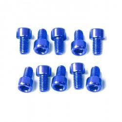Kit tornillos allen cabeza cilíndrica Pro-Bolt M6 x 10mm (10 pack) Aluminio azul LPB610-10B