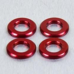 Arandela de Aluminio M6 rojo LWA6R