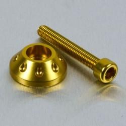 Arandela cónica de Aluminio (25mm ØExt.) para usar con tornillo Allen c/cilíndrica oro LWAPB625G