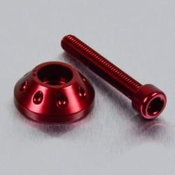 Arandela cónica de Aluminio (25mm ØExt.) para usar con tornillo Allen c/cilíndrica rojo LWAPB625R