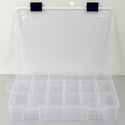 """Caja con compartimentos 11""""/ 7"""" plástico Pro-Bolt COMPARTMENT117"""