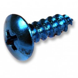 Kit 12 tornillos r/chapa M5x30. Azul