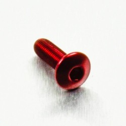 Tornillo de Aluminio Pro-bolt cabeza redondeada M4 x (0.5mm) x 12mm Fine rojo LFB412FR