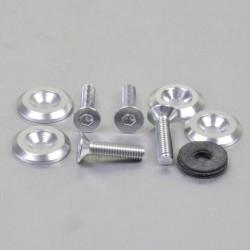 Kit tornillos/arandelas avellanados Pro-Bolt (4 pack) Aluminio plata CSKIT622625S