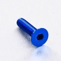 Tornillo de Aluminio Pro-bolt avellanado M5 x (0.8mm) x 20mm azul LCS520B