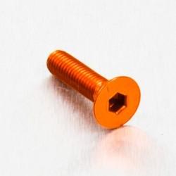 Tornillo de Aluminio Pro-bolt avellanado M5 x (0.8mm) x 20mm naranja LCS520O