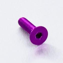 Tornillo de Aluminio Pro-bolt avellanado M5 x (0.8mm) x 20mm violeta LCS520P