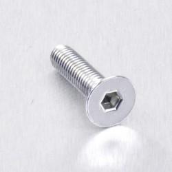 Tornillo de Aluminio Pro-bolt avellanado M5 x (0.8mm) x 20mm plata LCS520S