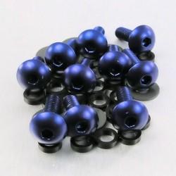 Kit tornillos de carenado Pro-Bolt (10 pack) Aluminio azul FB516-10B
