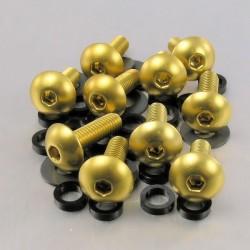 Kit tornillos de carenado Pro-Bolt (10 pack) Aluminio oro FB516-10G