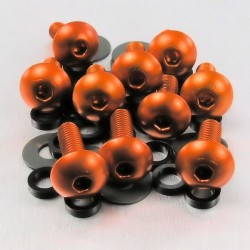 Kit tornillos de carenado Pro-Bolt (10 pack) Aluminio naranja FB516-10O
