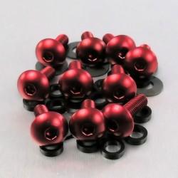 Kit tornillos de carenado Pro-Bolt (10 pack) Aluminio rojo FB516-10R