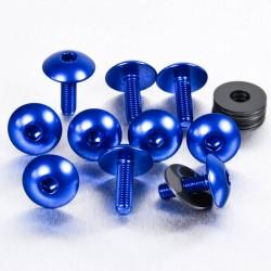 Kit tornillos de carenado Pro-Bolt (10 pack) Aluminio azul FB516XL-10B