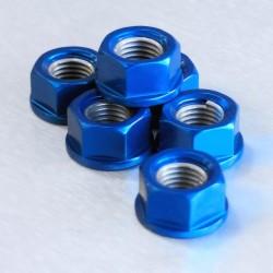 Tornillería de corona 10mm x 1,25 (6 pack) Aluminio azul Pro-Bolt SPN10B