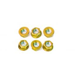 Tornillería de corona 12mm x 1,25 (6 pack) Aluminio oro Pro-Bolt SPN12G