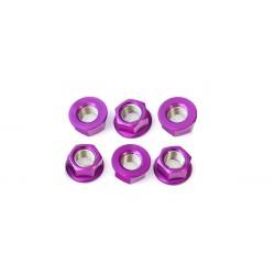 Tornillería de corona 12mm x 1,25 (6 pack) Aluminio violeta Pro-Bolt SPN12P