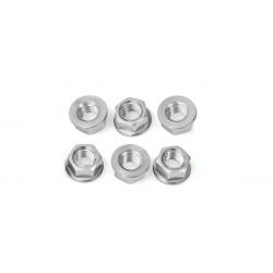 Tornillería de corona 12mm x 1,25 (6 pack) Aluminio plata Pro-Bolt SPN12S