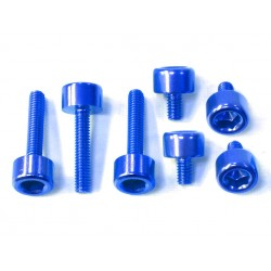 Kit tornilleria tapón depósito Pro-Bolt Honda Aluminio azul THONB