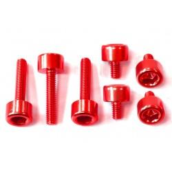 Kit tornilleria tapón depósito Pro-Bolt Honda Aluminio rojo THONR