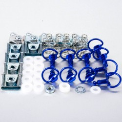 Tornillo rápido anilla 17mm Pro-Bolt (10 pack) Aluminio azul QRPACKSLIDE17B