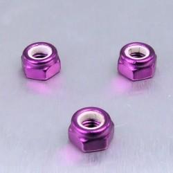 Tuerca de Aluminio Pro-Bolt autoblocante M5 violeta LNYN5P