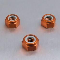 Tuerca de Aluminio Pro-Bolt autoblocante M6 naranja LNYN6O