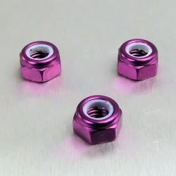 Tuerca de Aluminio Pro-Bolt autoblocante M6 violeta LNYN6P