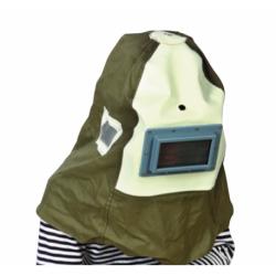 Capucha protectora para chorreadora de exteriores