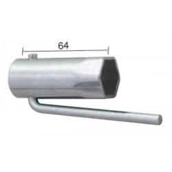 Llave de bujía para ciclomotores plegable Hex.21mm