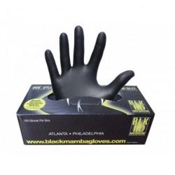Caja de 100 guantes de nitrilo. Color negro - talla L
