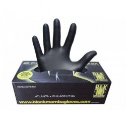 Caja de 100 guantes de nitrilo. Color negro - talla M