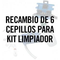 Recambio de 6 cepillos para Kit limpiador de cadenas. Ref.5095