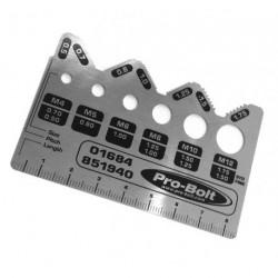 Calibre profesional Acero cepillado inox Pro-Bolt Progauge PROGAUGE