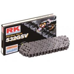 Cadena RK 532GSV con 72 eslabones negro