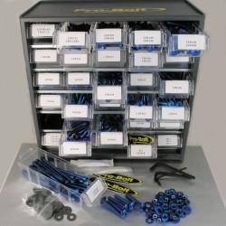 Cabina de tornilleria mixta Pro-Bolt 500 piezas Aluminio azul (Taller) BCAB500B