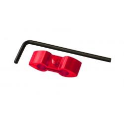 Separador de cable Pro-Bolt Aluminio rojo HOSESEP10R